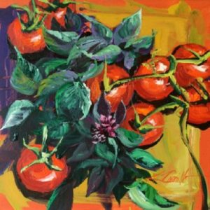 foodies, tomatoes and basil